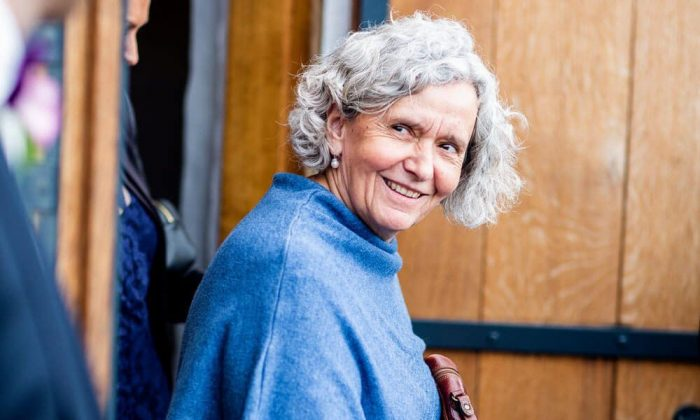 Smiling older gal
